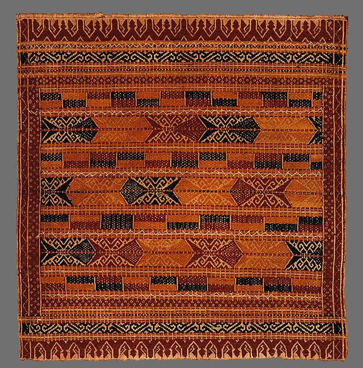 Paminggir people Ceremonial textile [tampan] Lampung south Sumatra Indonesia handspun cotton, natural dyes supplementary weft weave