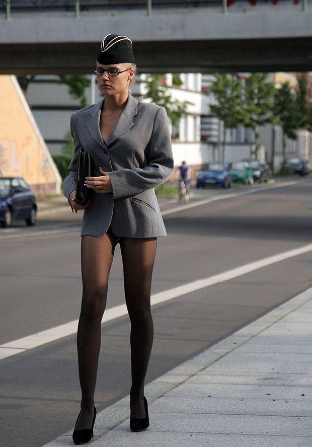 Grey Pantyhose Sandra In 84