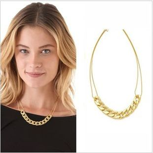 JX42 2014 HOTTEST NEW POP PUNK FASHION GIRL BIG STAR JEWELRY MODEL THICK METAL ACCESSORIES CONTRACTED YELLOE LADY SHORT NECKLACE
