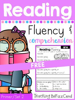 FREE Kindergarten Reading Fluency and Comprehension!!