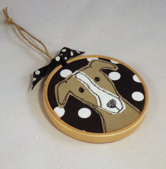 Greyhound hoop hoop art dog applique by TheDogandtheMoon on Etsy