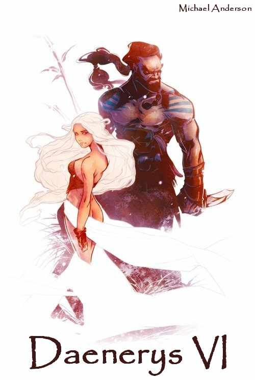 AGOT Daenerys VI banner - Dany and Drogo by Michael Anderson