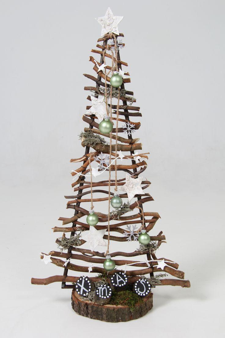 Kerst boompje verkrijgbaar op webshop www.decoratietakken.nl