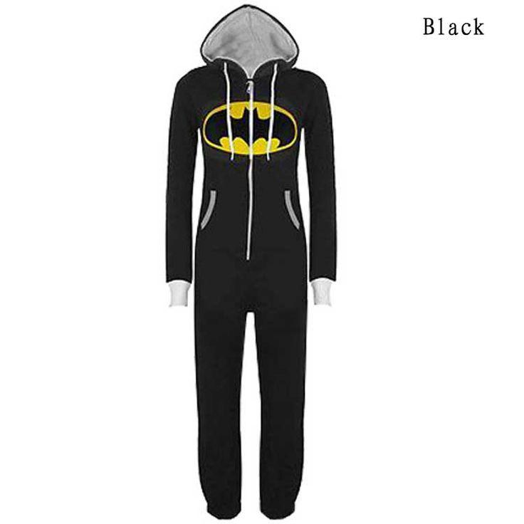 KDQ4 Unisex Men Women Onesie Superman Batman Hooded Jumpsuit Pajamas 5376 | eBay