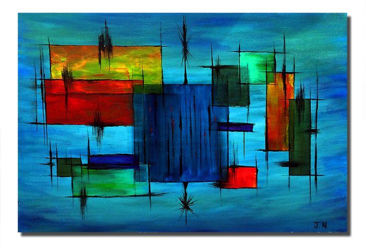 Abstract #9, Acrylic on Canvas http://joshnammpaints.blogspot.com/2016/05/abstract-9-acrylic-on-canvas.html #visualarts #painting #joshnammpaints #paintings #painters #abstract #abstractart #abstractpainting l#acrylicpainting #midcentury #midcenturyart #midcenturypainting