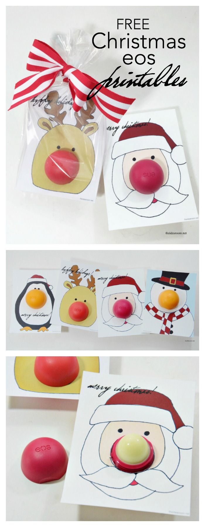 Christmas | Free printable eos Christmas Gifts or stocking stuffers for your friends, family and teachers. So easy to make and so fun for someone who loves eos.