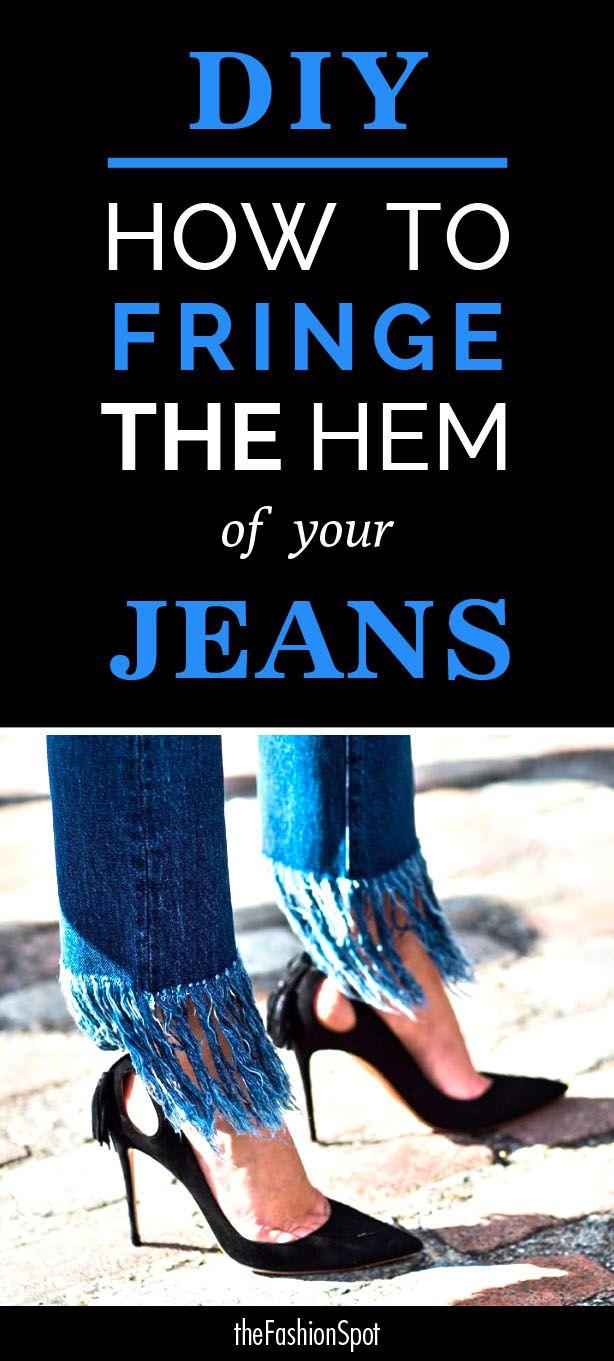 DIY: How to Fray Jeans Hems Like 3x1 Crop Fringe Lima ...
