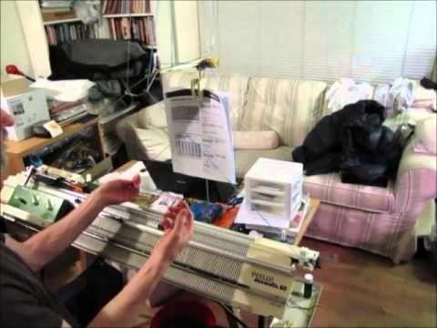 ▶ Knitting socks on passap part 1 - YouTube