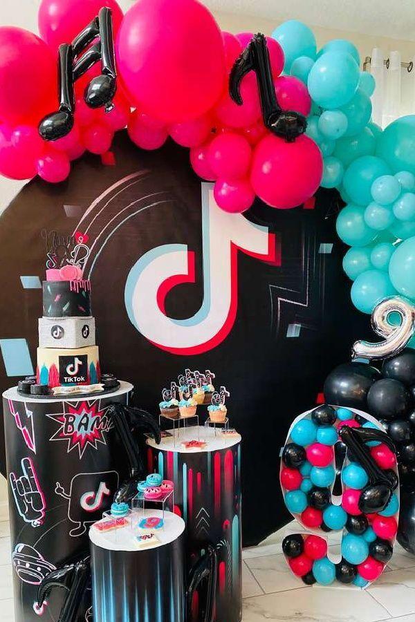 Tik Tok Birthday Party Ideas Photo 2 Of 20 Tween Birthday Party Birthday Party For Teens Girls Birthday Party Themes