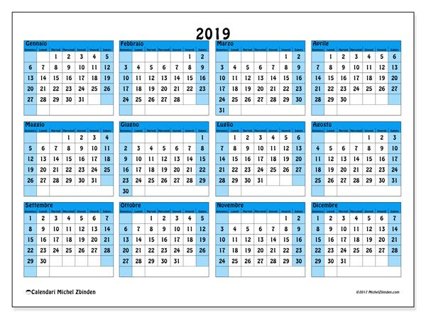 Calendario Da Stampare 2020 Gratis.Calendario 2019 39ds Natale Calendario Stampabile