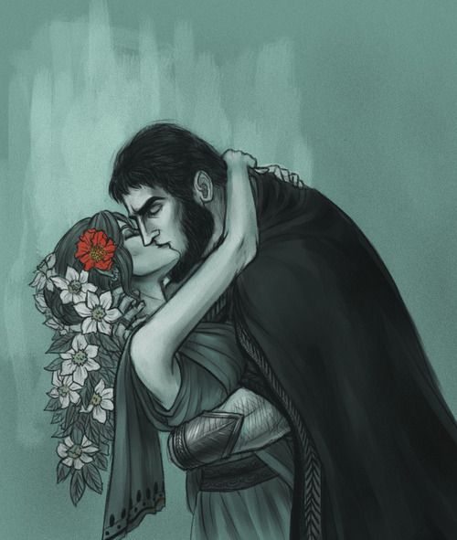 """Hades and Persephone, """"First Fall"""" by asphodelon"""