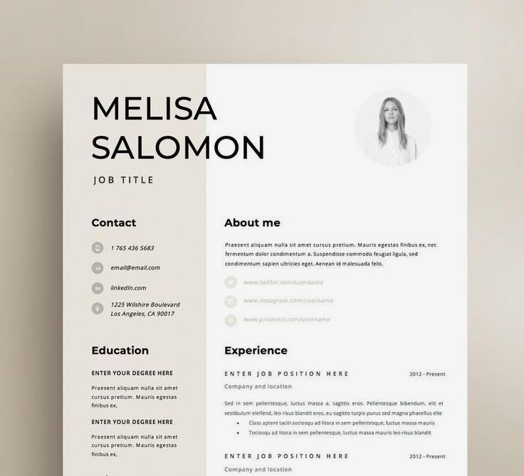 Resume Template Cv Template Professional And Creative Resume Design Cover Letter For Ms Word In 2020 Resume Template Resume Template Professional Resume Design
