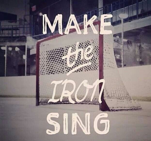 """A goalie's favorite sound. Position's right, that """"Ding"""" is all they're going to get :-)"""
