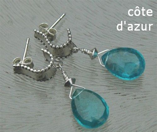 Ohrringe mit apatit Tröpfe - Earrings with apatite pears.