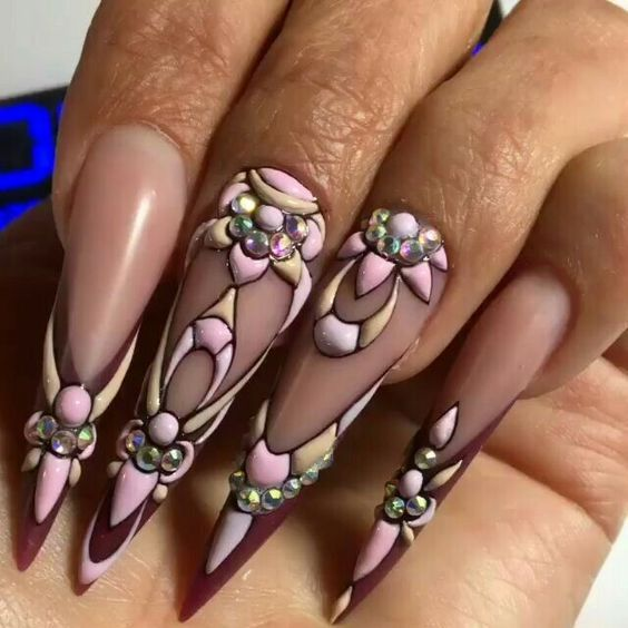 500+ best Stiletto nails images on Pinterest | Acrylic nail designs ...
