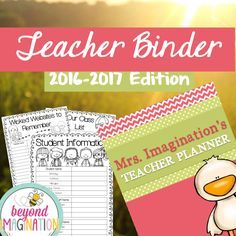 Teacher binder for back to school 2016-2017. Coral and mint. Included is 300+ pages for your teacher binder. There are editable calendars, student information sheets, and so forth. Trust me you will love this binder.