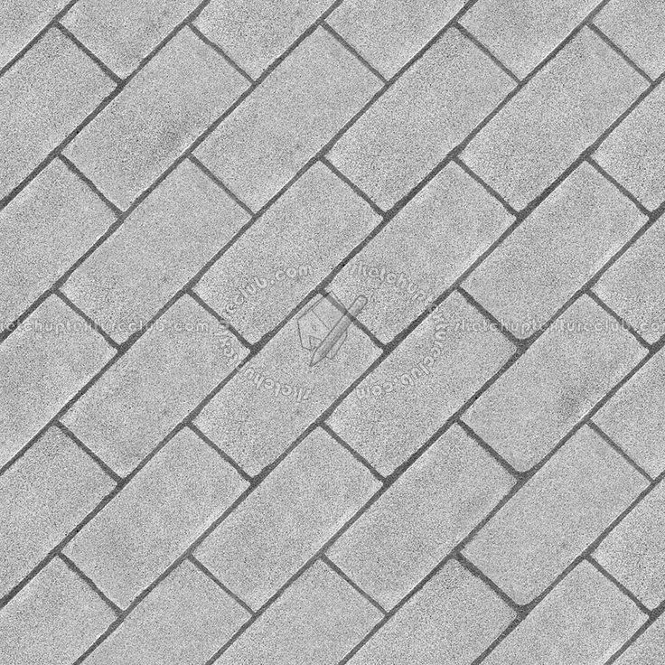 Phillip Jeffries Simply Seamless Wallpaper: Paving Outdoor Concrete Regular Block Texture Seamless