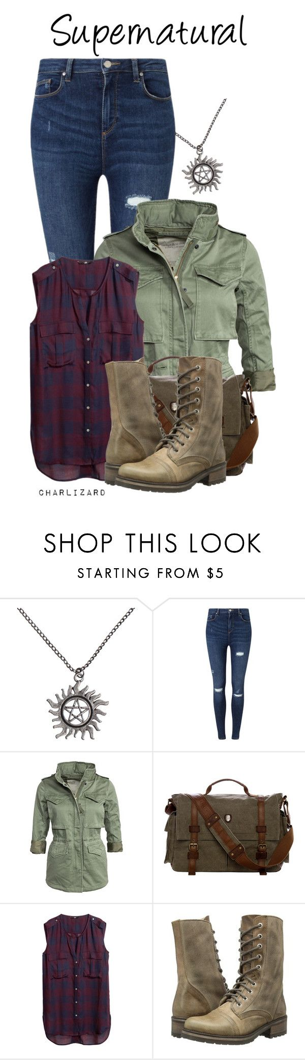 """""""Supernatural"""" by charlizard ❤ liked on Polyvore featuring Miss Selfridge, Denim & Supply by Ralph Lauren, H&M and Steve Madden"""