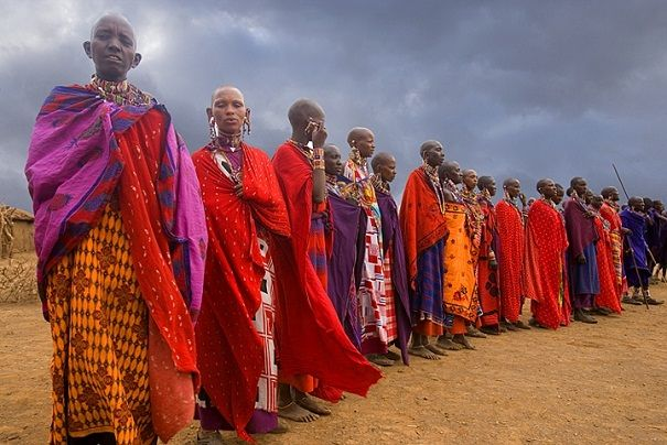 I love all the wonderful colors! | Maasai in Kenya -- -- check out our itineraries for Kenya at www.Adventures-Abroad.com