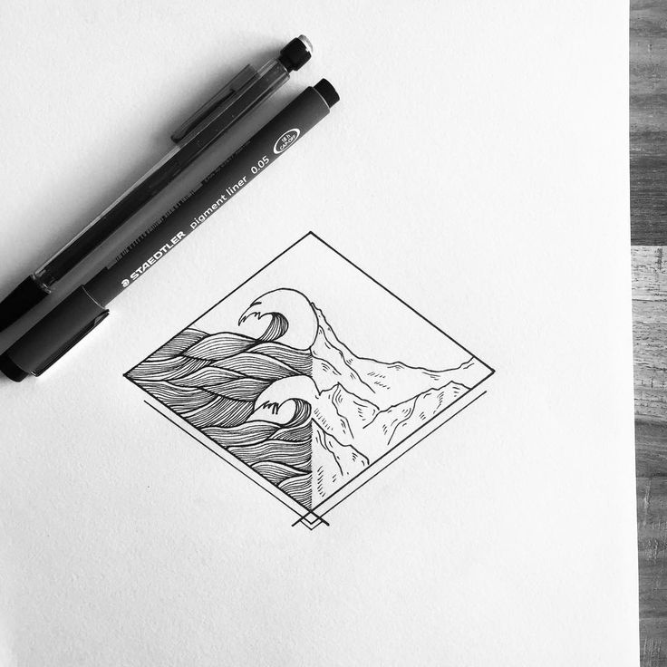 Two worlds colliding. This one is FOR SALE! DM or mail if interested. #illustration #illustrator #design #sketch #drawing #draw #ink #tattoo #tattoodesign #thedesigntip #linework #blackwork #blackworkers #art #artwork #artist #instaart #instaartist #fineliner #kunst #mountains #landscape #ocean #waves #logo #geometry #minimal #bw #evasvartur