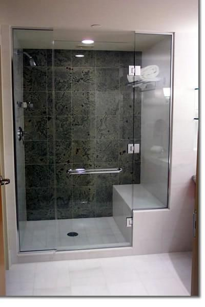 Shower with seat my old house had this it doesn 39 t get much better house home for Custom showers for small bathrooms