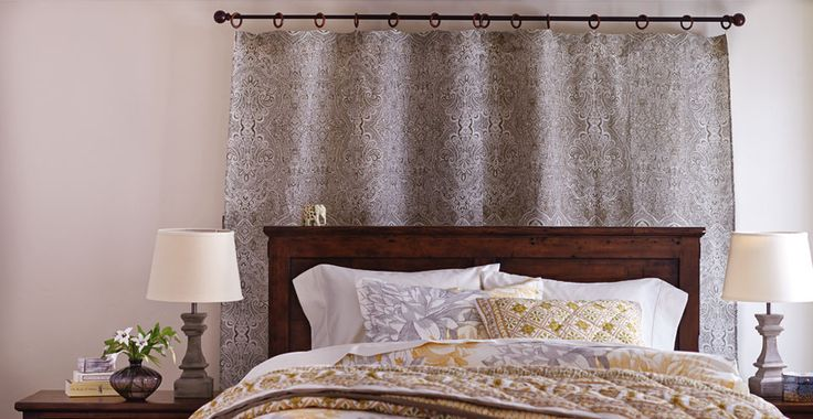 In case the Patterned Paint roller idea doesn't take... Curtain backdrop 3 Ways to Hang Curtains | Cost Plus World Market