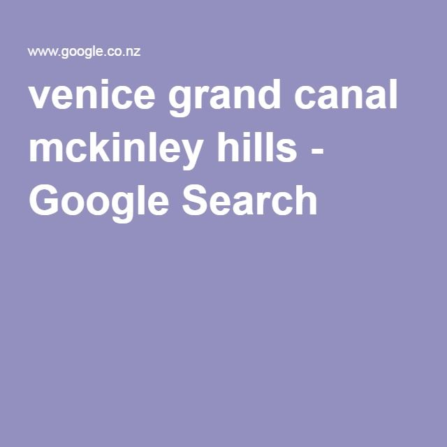 venice grand canal mckinley hills - Google Search