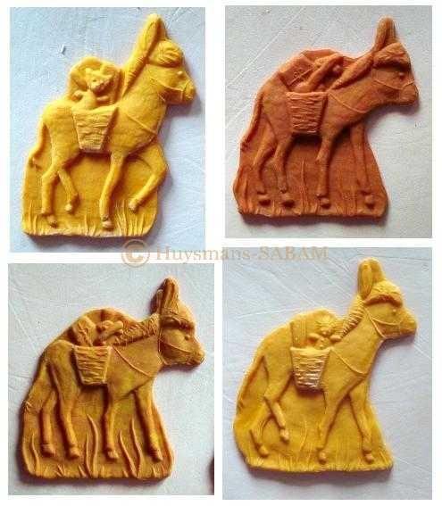 Biscuits ânes de Saint Nicolas estampés dans un moule artisanal - Arts et sculpture: sculpteur sur bois