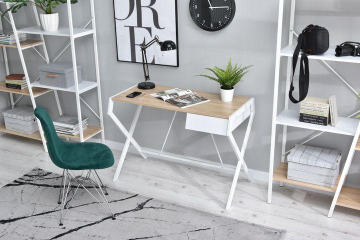 Male Designerskie Biurko Designo Dab Sonoma Biale 8965998206 Oficjalne Archiwum Allegro Furniture Home Decor Decor