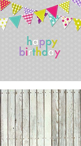 Laeacco New Vinyl Thin Backdrop,Kids Happy Birthday Photography Background  For Photo Studio Props