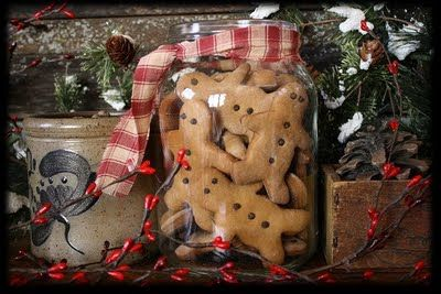 Prim Ornamental Gingerbread Cookies Recipe...can be dipped in wax or painted.