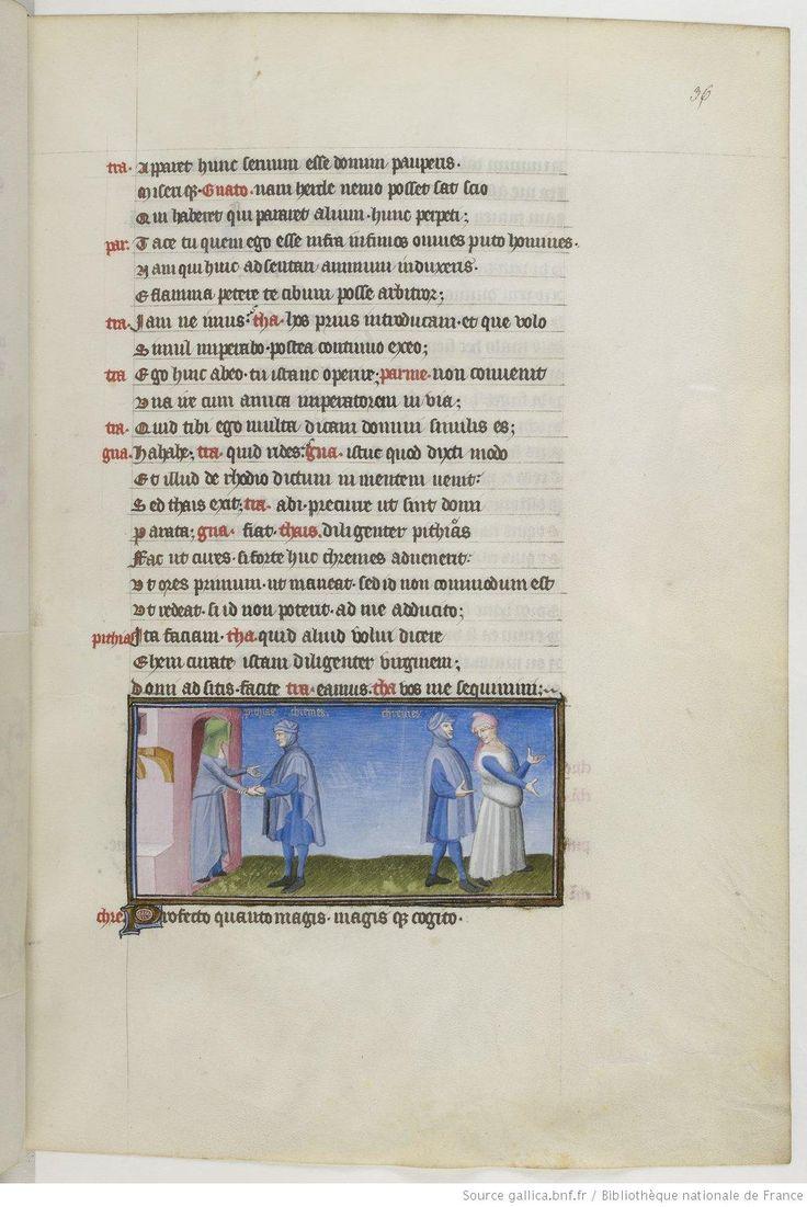 Publius Terentius Afer, Comediae 1400-1407 BnF., Français 247