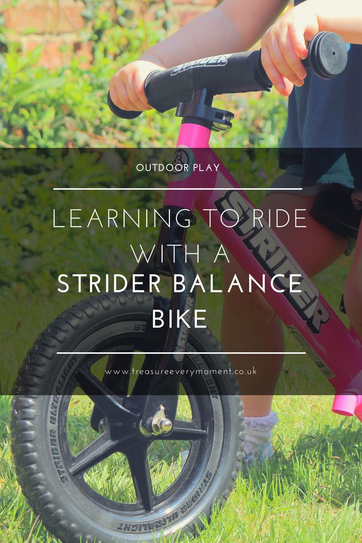 Outdoor Play Learning To Ride With A Strider Balance Bike