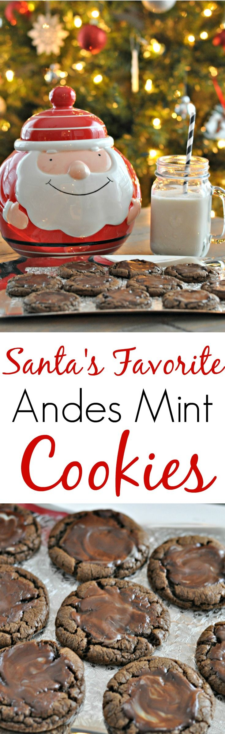 Andes Mint Cookies.  They're so good they are Santa's favorite!