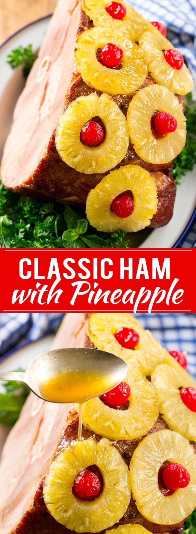 Ham with Pineapple and Cherries Recipe | Easter Ham | Christmas Ham | Holiday Ham | Pineapple Ham Recipe