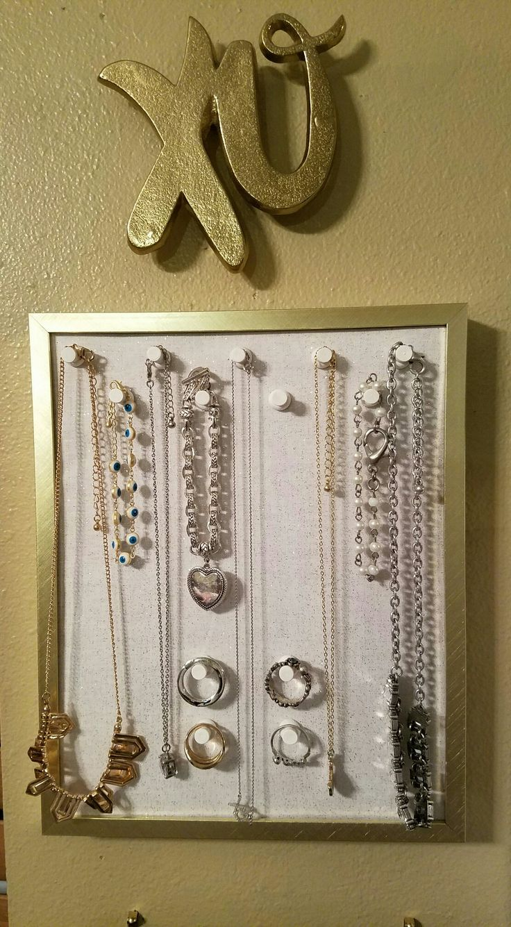Made my own jewlery holder to my vanity area.