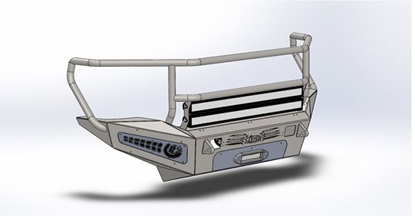 Addictive Desert Designs HoneyBadger Rancher Front Bumper With Winch Mount & Storage Box For Your 2011-2016 Ford F-250 / F-350 Power Stroke 6.7L