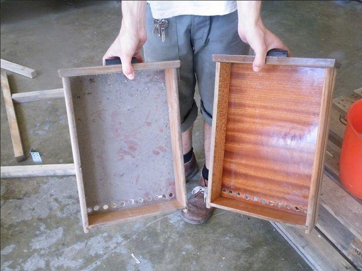 vecchi cassetti impolverati diventano nuovi