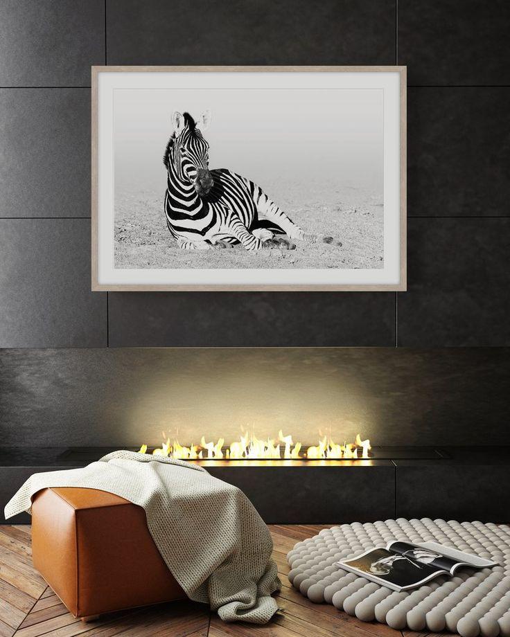 SAFARI ZEBRA 1 * Framed archival quality art print * Wall Style