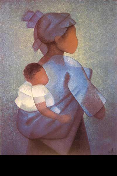 Oeuvre du peintre Toffoli - Maternité des îles