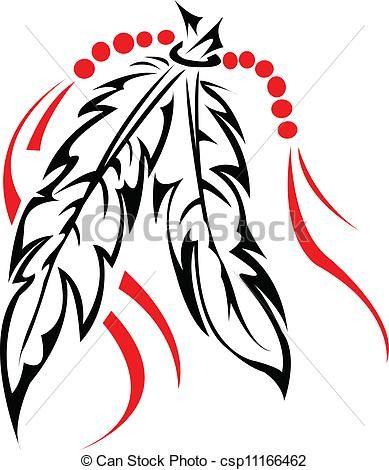 Tribal Feather Clip Art | , stock clip art icon, stock ...