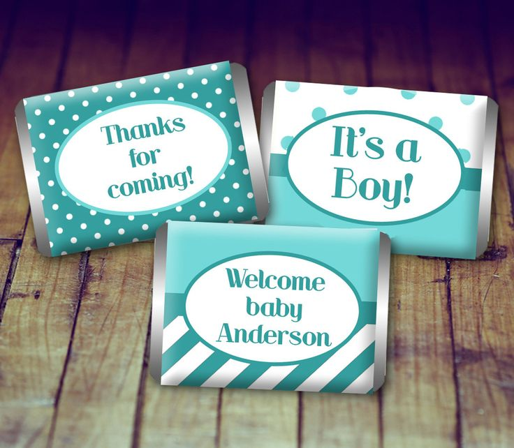 A personal favorite from my Etsy shop https://www.etsy.com/ca/listing/479154642/mini-candy-wrapper-baby-baby-shower-boy