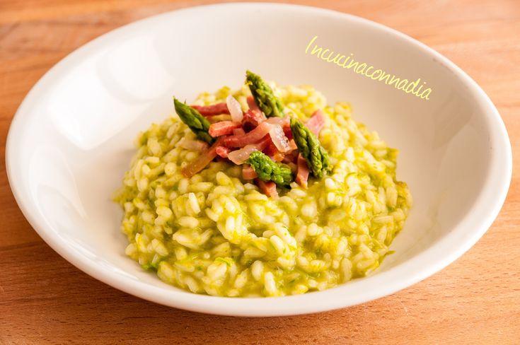 #risotto alla #crema di #asparagi e #speck