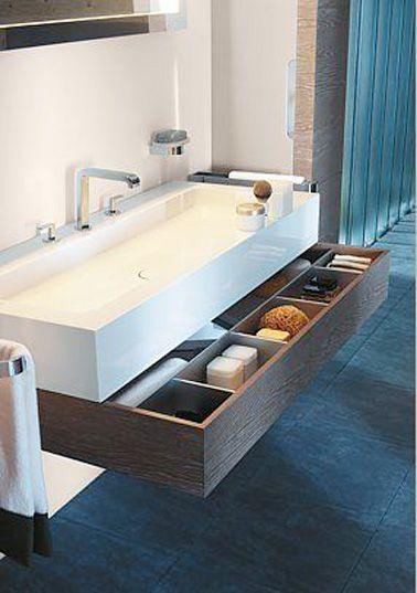Les 25 meilleures id es concernant rangement sous l 39 vier sur pinterest organisation de lavabo Salle de bains les idees qu on adore