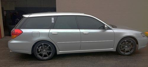 2005 Subaru Legacy GT Wagon - new paws - Drag   DR-33   18X7.55-100/11445GM with Kumho   Ecsta AST 225/40R-18XL 92H BSW