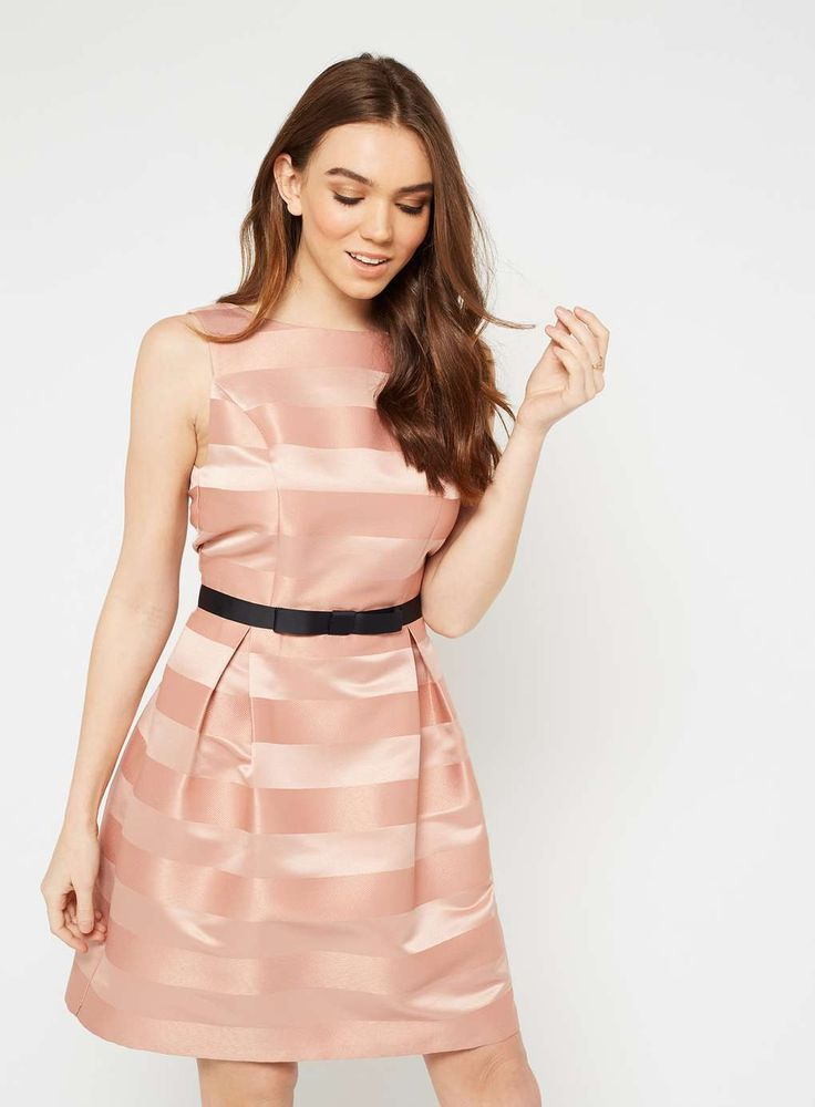 Pink Stripe Prom Dress