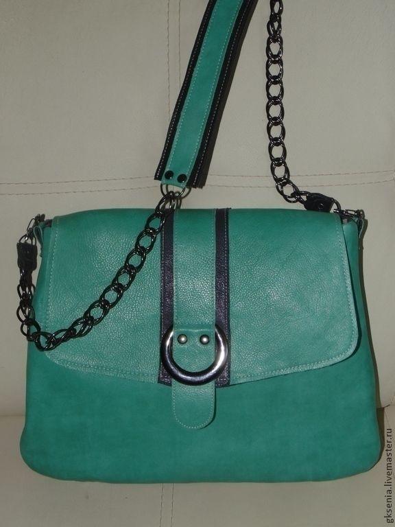 """Купить Сумка """"Бирюзовая осень"""" - сумка, сумка из натуральной кожи, Кожаная сумка, удобная сумка"""