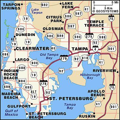 mike 39 s tampa bay map tampa bay maps map tampa bay florida florida. Black Bedroom Furniture Sets. Home Design Ideas