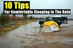 10 Tips For Comfortable Sleeping In The Rain --Have a comfortable nights sleep when bugging out or are stuck away from home in an emergency and its raining