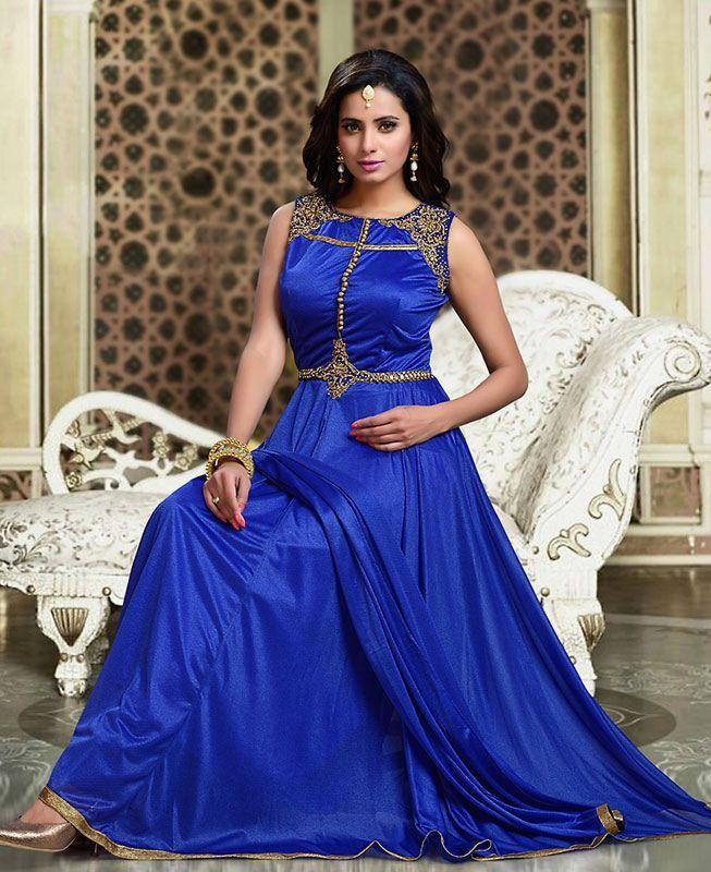 Buy Well Formed Blue Readymade Salwar Kameez online at  https://www.a1designerwear.com/well-formed-blue-readymade-salwar-kameez-4  Price: $84.92 USD